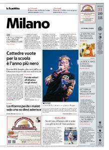 la Repubblica Milano - 31 Ottobre 2018