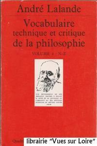 Vocabulaire technique et critique de la philosophie, Vol. 2 N-Z