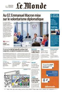 Le Monde du Mardi 27 Août 2019