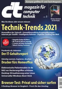 c't Magazin für Computertechnik - 02 Januar 2021