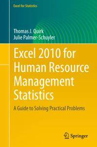 Excel 2010 for Human Resource Management Statistics: A Guide to Solving Practical Problems (Repost)