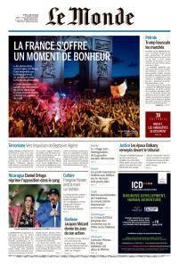 Le Monde du Jeudi 12 Juillet 2018