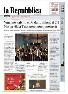 la Repubblica - 28 Settembre 2018