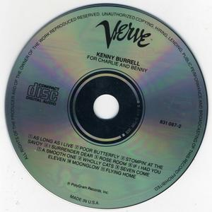 Kenny Burrell - For Charlie Christian and Benny Goodman (1986) {Verve 831 087-2 rec 1966-67}