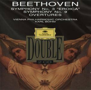 Beethoven - Symphonies Nos. 3 & 9, Overtures (1992) {Karl Böhm, VPO} {2CD Deutsche Grammophon 437 368-2 rec 1972}