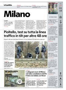 la Repubblica Milano - 27 Gennaio 2018