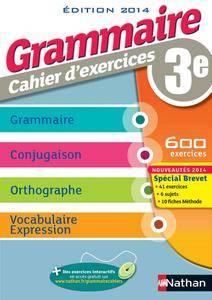 """Cécile de Cazanove, """"Grammaire 3e - Cahier d'exercices"""""""