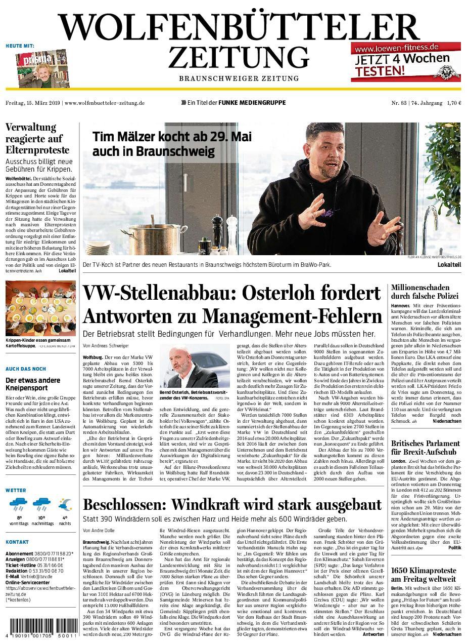 Wolfenbütteler Zeitung - 15. März 2019
