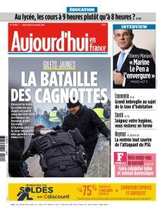 Aujourd'hui en France du Mercredi 9 Janvier 2019