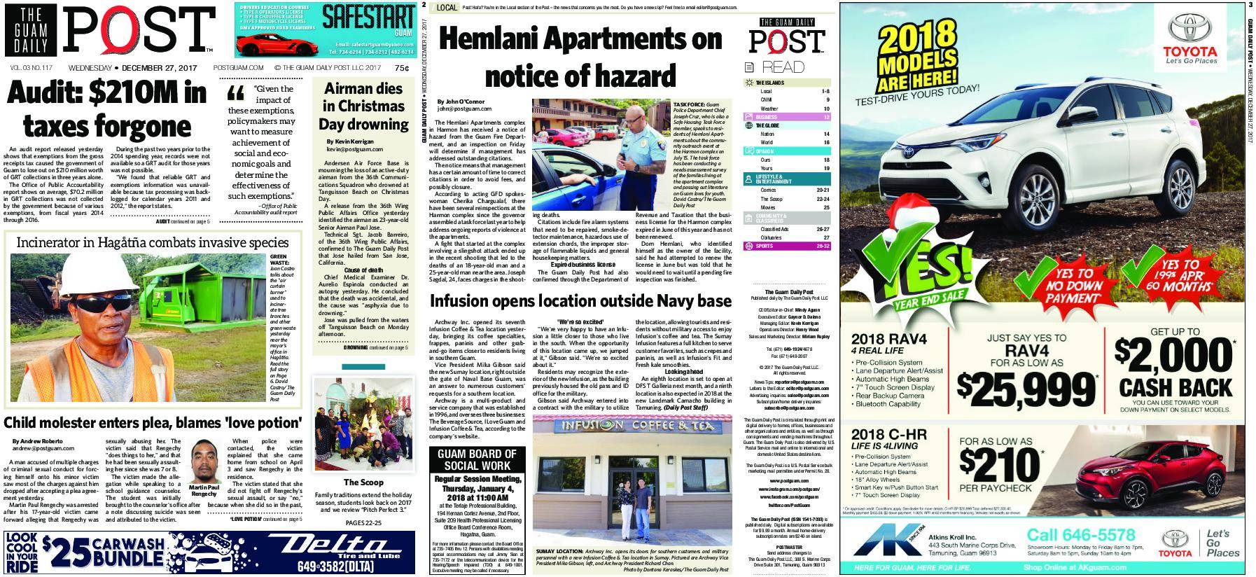 The Guam Daily Post – December 27, 2017