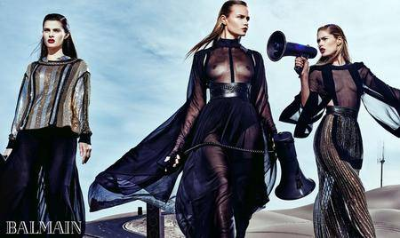 Doutzen Kroes, Isabeli Fontana and Natasha Poly by Steven Klein for Balmain Spring/Summer 2017