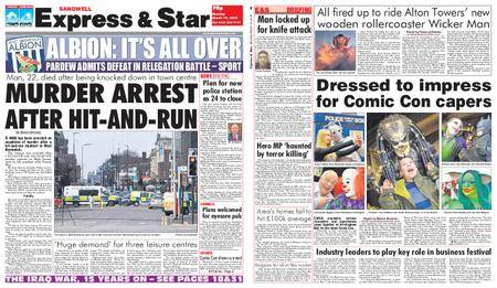 Express and Star Sandwell Edition – March 19, 2018