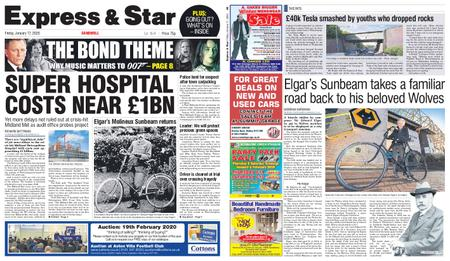 Express and Star Sandwell Edition – January 17, 2020