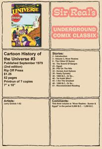 Cartoon History of the Universe 03 2nd Edition 1979 Rip Off Press Sir Real