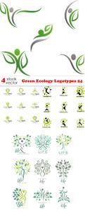 Vectors - Green Ecology Logotypes 24