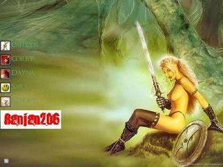 Warrior women Logon Screen