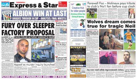 Express and Star Sandwell Edition – January 08, 2018