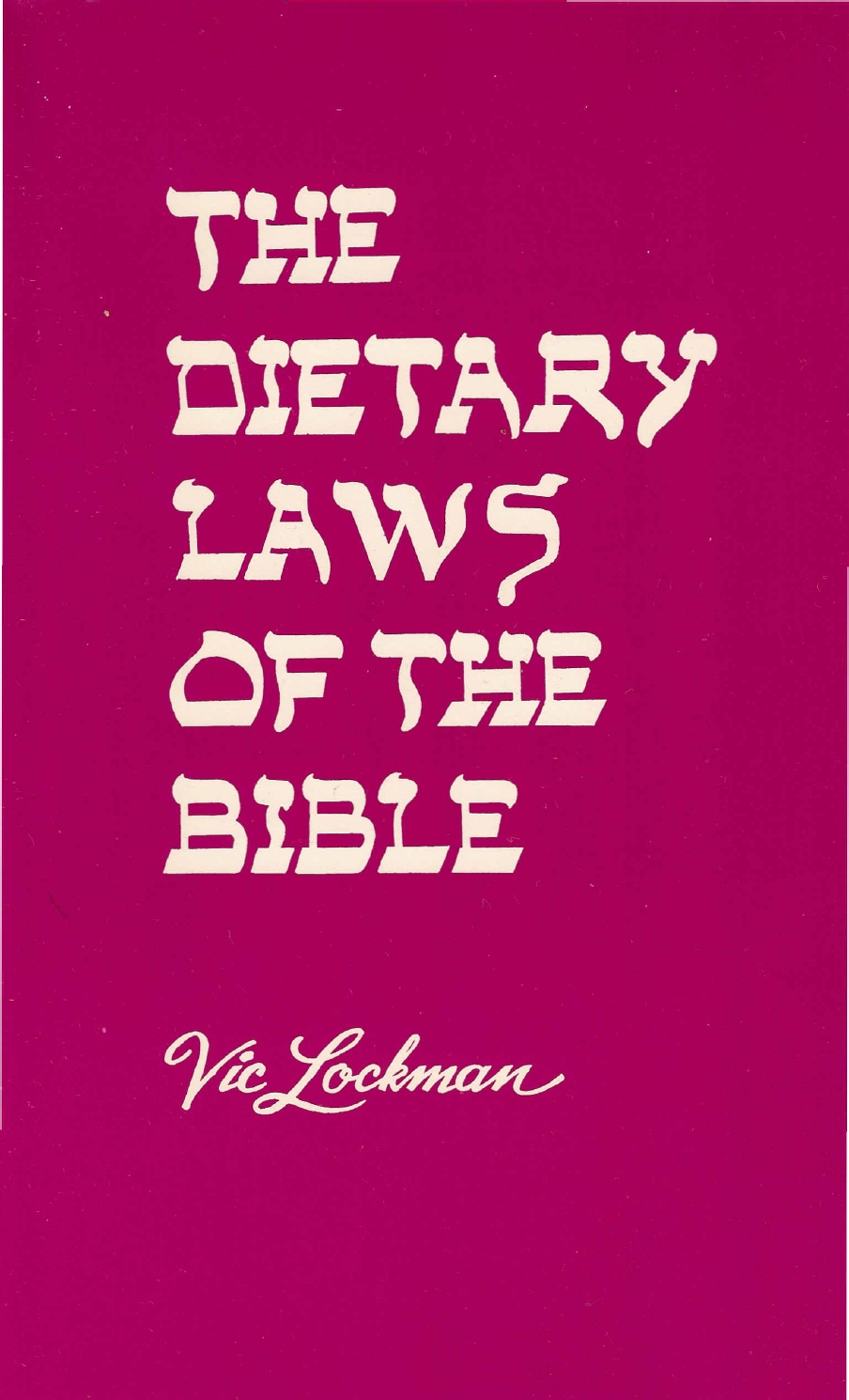 The dietary laws of the Bible