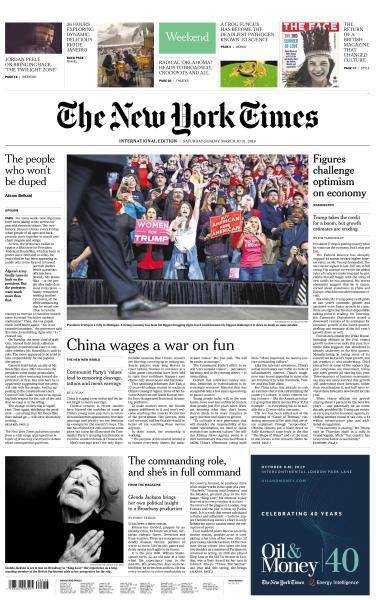 International New York Times - 30-31 March 2019