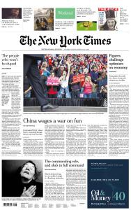 International New York Times - 30-31 March 2019