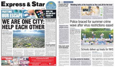 Express and Star City Edition – April 29, 2020