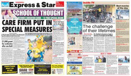 Express and Star Sandwell Edition – September 14, 2017
