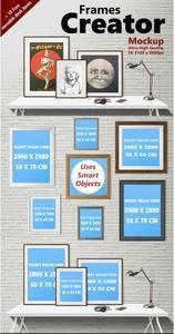 CreativeMarket - Frames Creator Mockup (res. 5K)