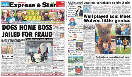 Express and Star Sandwell Edition – December 23, 2017