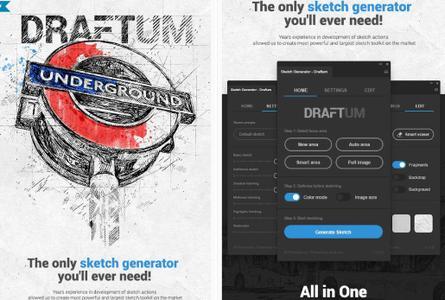 GraphicRiver - Sketch Generator - Draftum - Photoshop Plugin