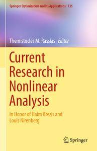 Current Research in Nonlinear Analysis: In Honor of Haim Brezis and Louis Nirenberg