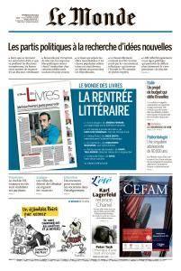 Le Monde du Vendredi 24 Août 2018