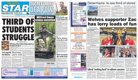 Shropshire Star Shrewsbury Edition – October 22, 2018
