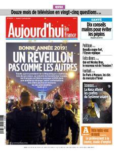 Aujourd'hui en France du Mardi 1er Janvier 2019