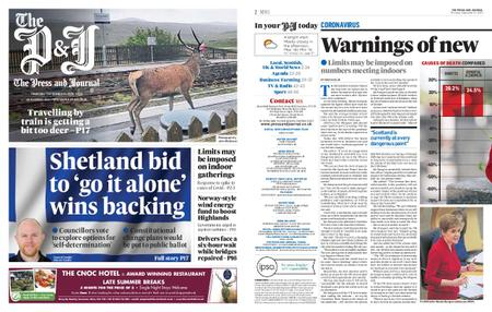 The Press and Journal Moray – September 10, 2020