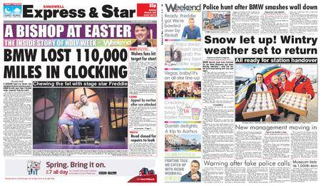 Express and Star Sandwell Edition – March 31, 2018