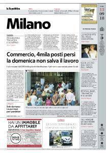 la Repubblica Milano - 13 Settembre 2018