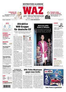 WAZ Westdeutsche Allgemeine Zeitung Oberhausen-Sterkrade - 02. Dezember 2017