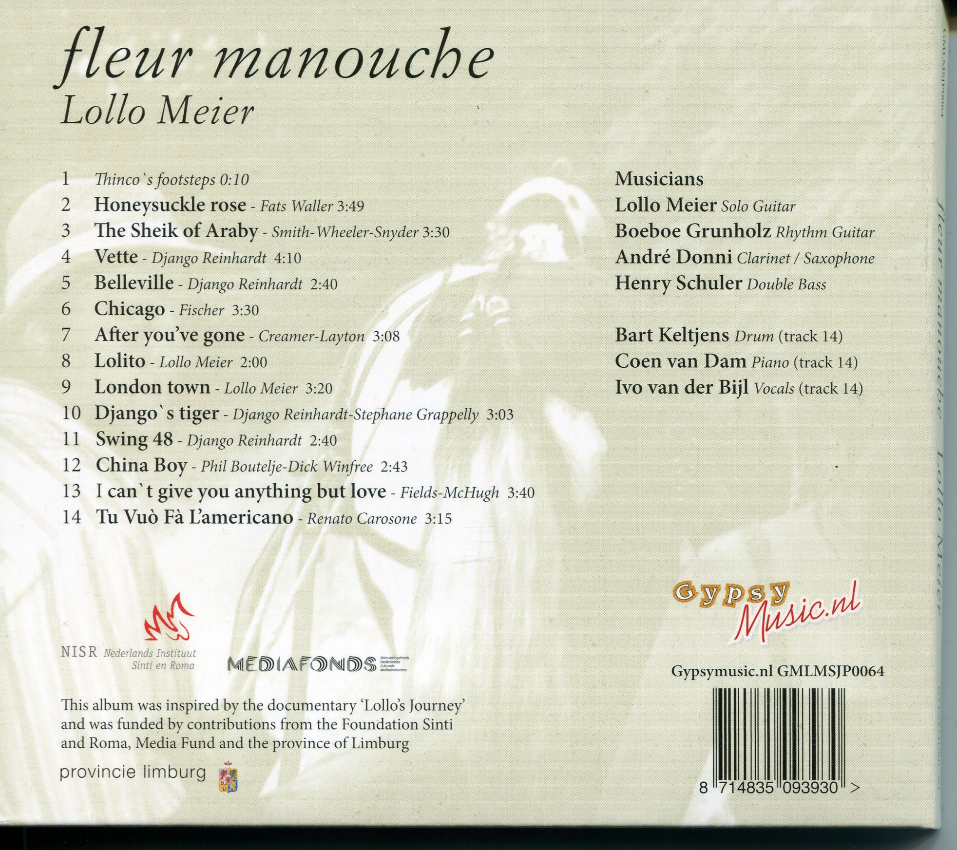 Lollo Meier - Fleur Manouche (2012) / AvaxHome