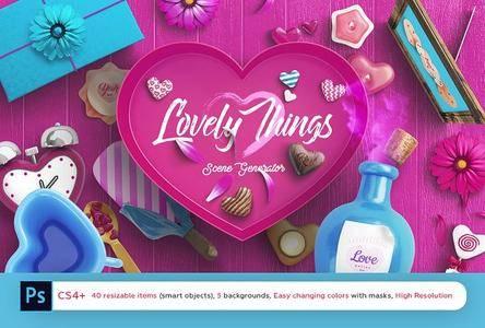 CreativeMarket - Lovely Things Scene Generator