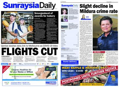 Sunraysia Daily – March 20, 2020