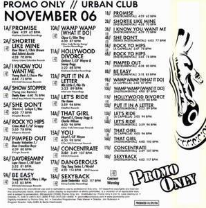 VA - Promo Only Urban Club November-2CD (2006)