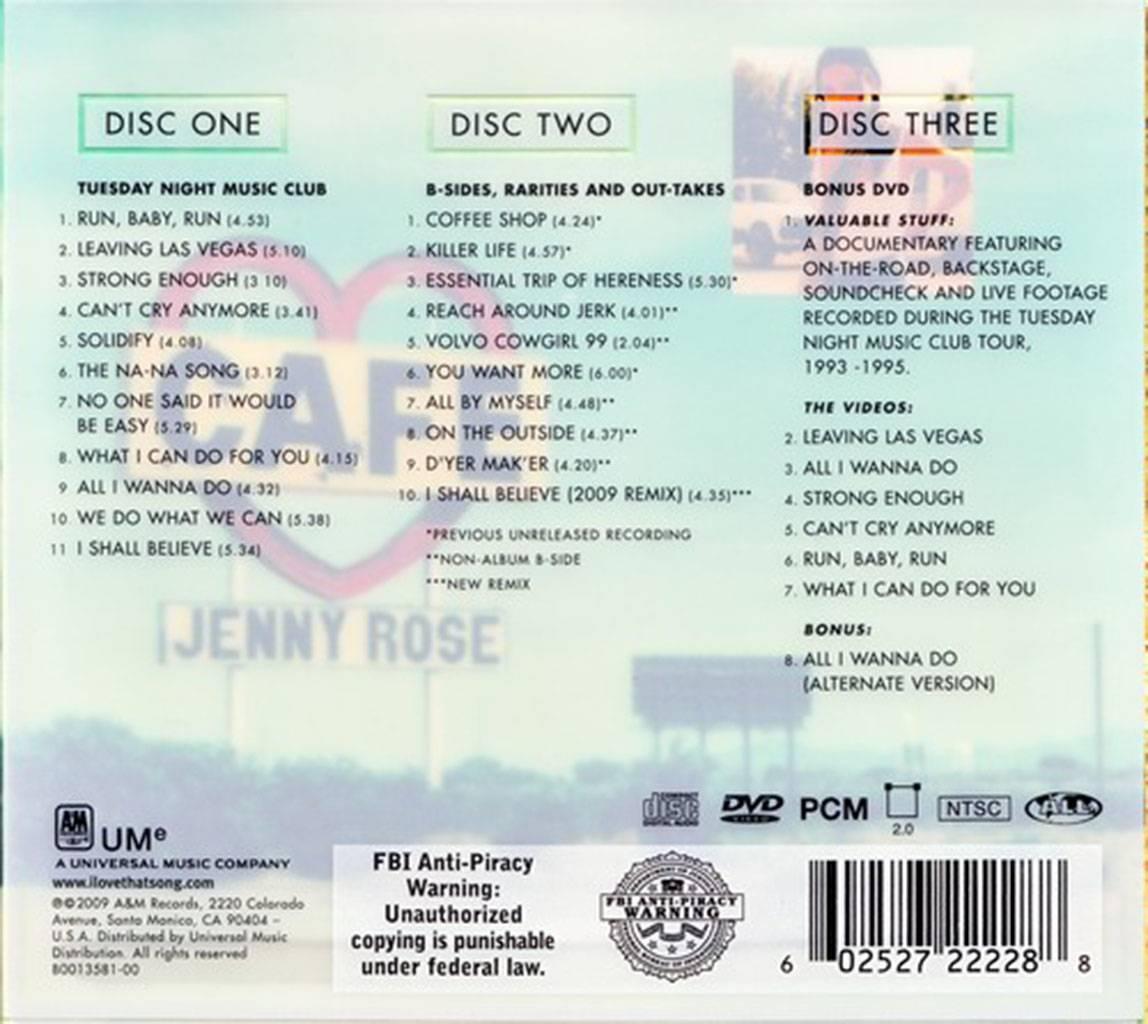 Sheryl Crow Tuesday Night Music Club 1993 2cd Dvd