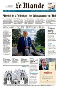 Le Monde du Mardi 8 Octobre 2019