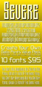 Severe Font Family