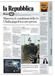 la Repubblica - 20 Dicembre 2018