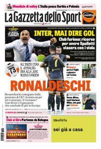 La Gazzetta dello Sport – 25 settembre 2018