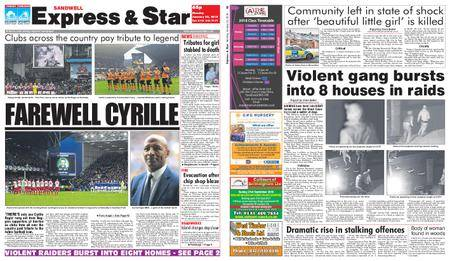 Express and Star Sandwell Edition – January 22, 2018