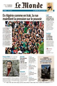 Le Monde du Dimanche 3 et Lundi 4 Novembre 2019