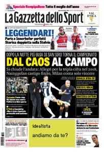 La Gazzetta dello Sport – 29 dicembre 2018
