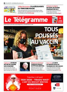 Le Télégramme Ouest Cornouaille – 13 juillet 2021